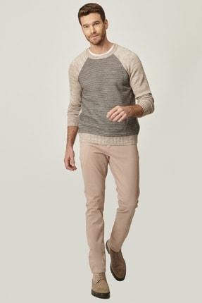 AC&Co / Altınyıldız Classics Erkek Bej Kanvas Slim Fit Dar Kesim 5 Cep Pantolon
