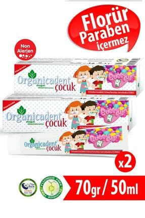 Organicadent Florürsüz Doğal Çocuk Diş Macunu 50 Ml X 2