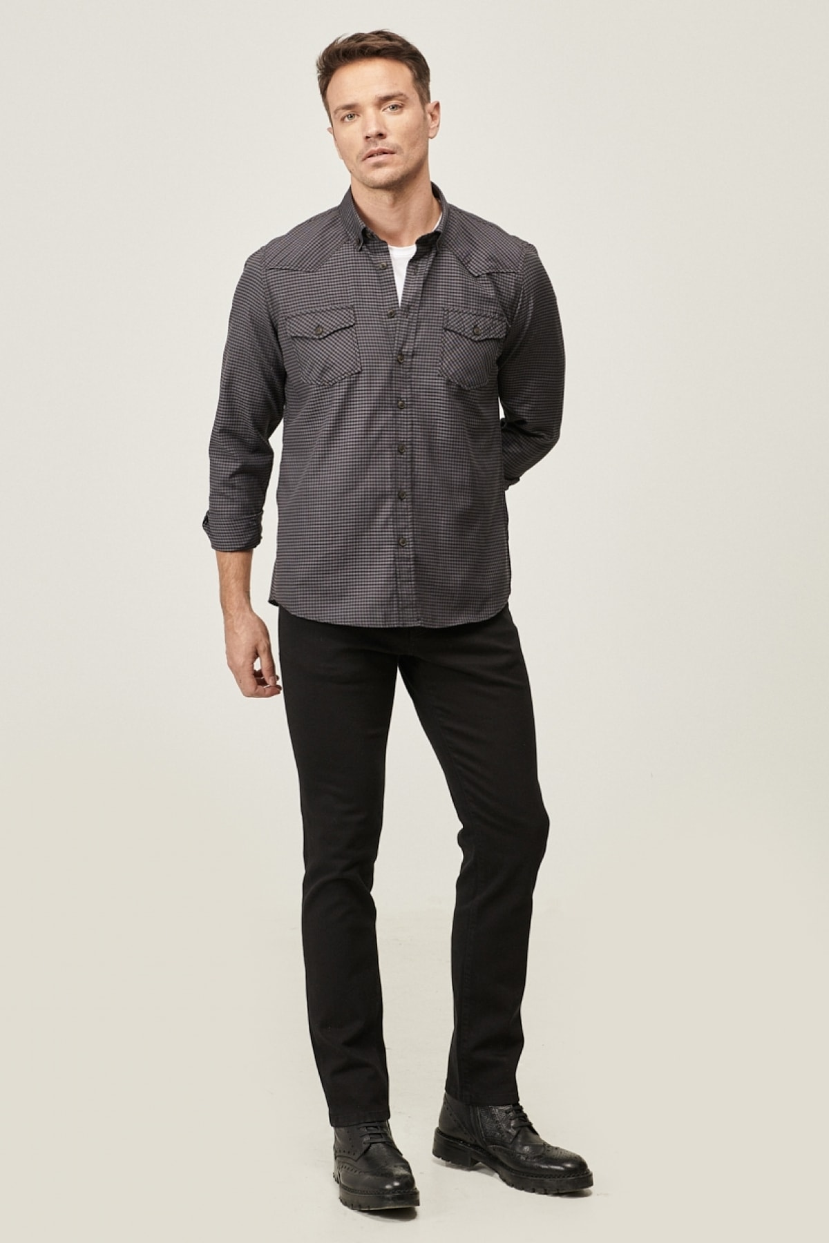 ALTINYILDIZ CLASSICS Erkek Siyah 360 Derece Her Yöne Esneyen Rahat Slim Fit Pantolon 2