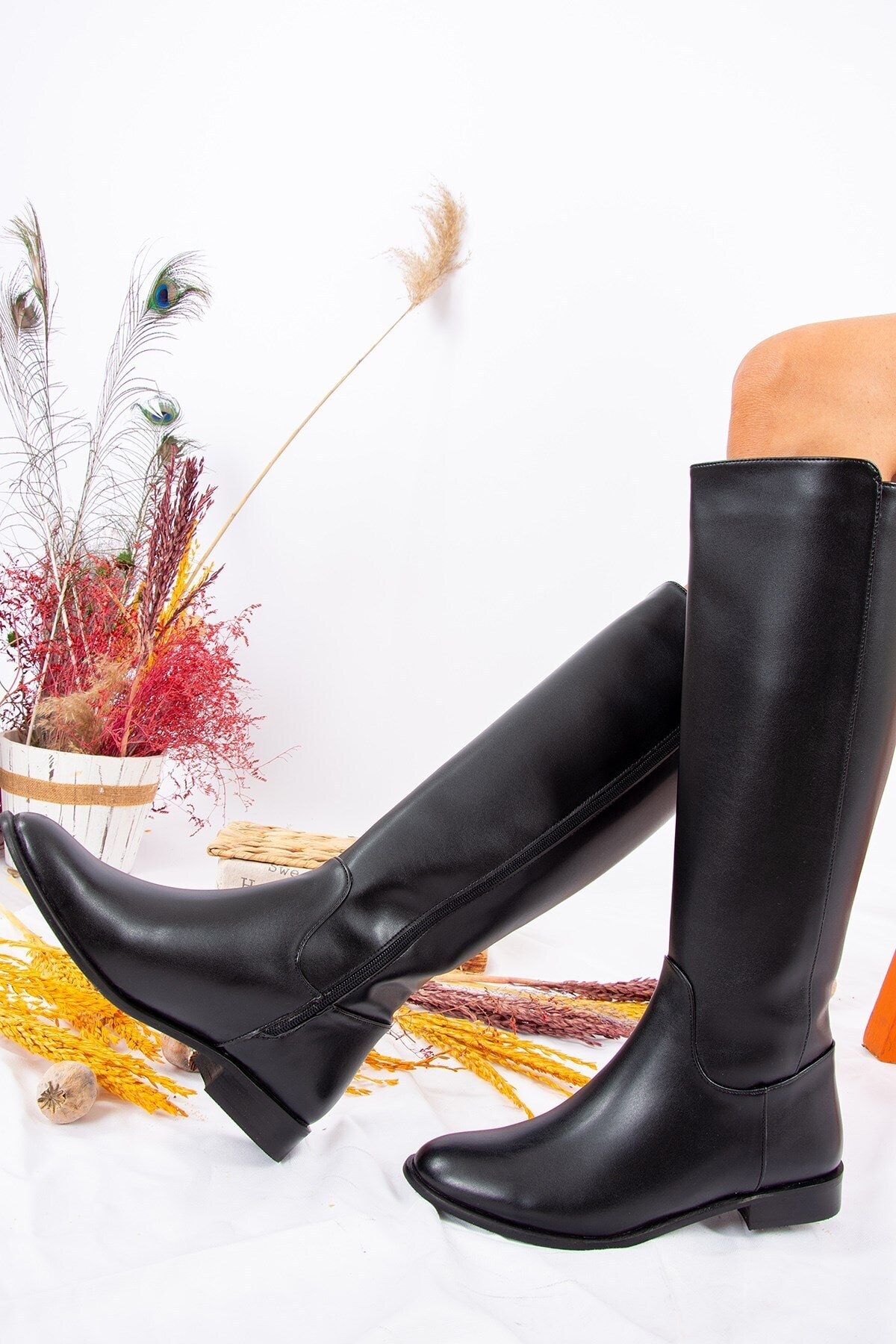 Fox Shoes Siyah Kadın Çizme J654065609 2