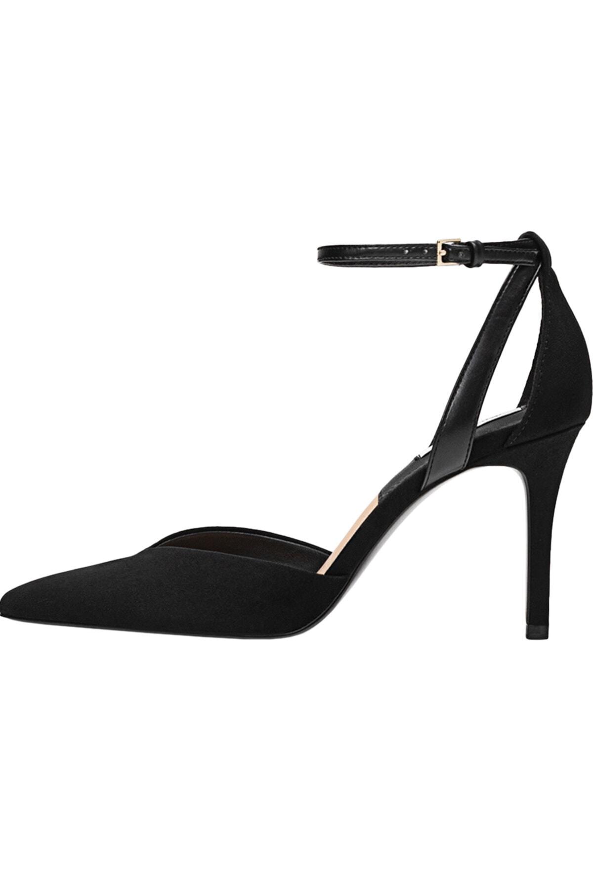 Stradivarius Kadın Siyah Bilekten Bantlı Yüksek Topuklu Ayakkabı 19153770