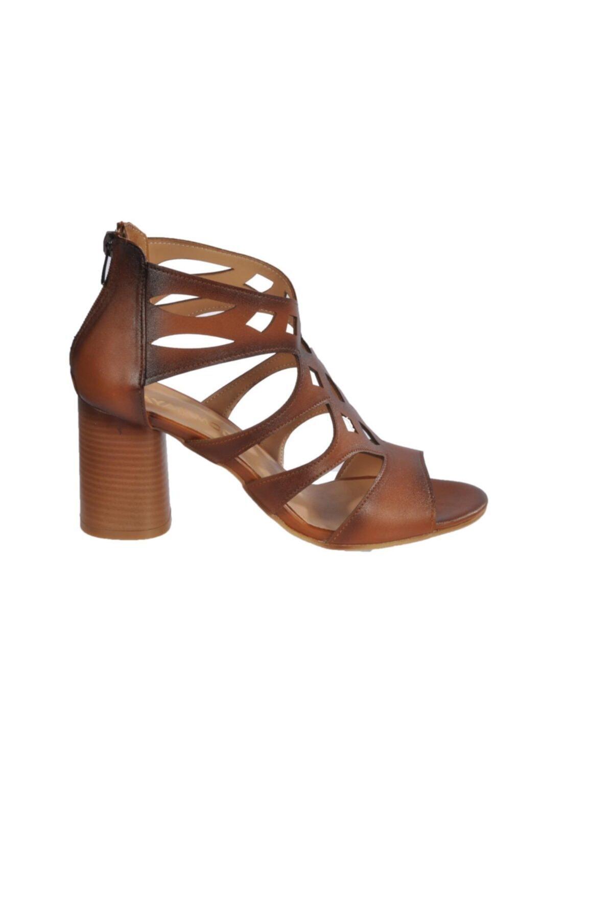 Maje 9837 Taba Kadın Topuklu Ayakkabı 2