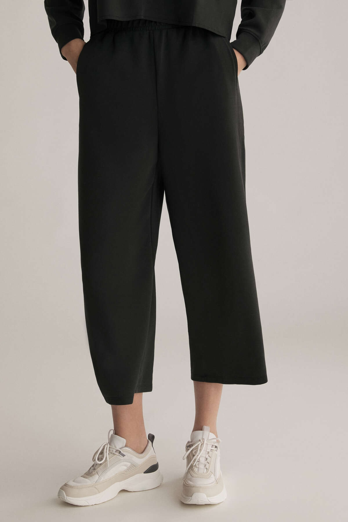 Oysho Kadın Modal Culotte Pantolon Siyah 31237666 1