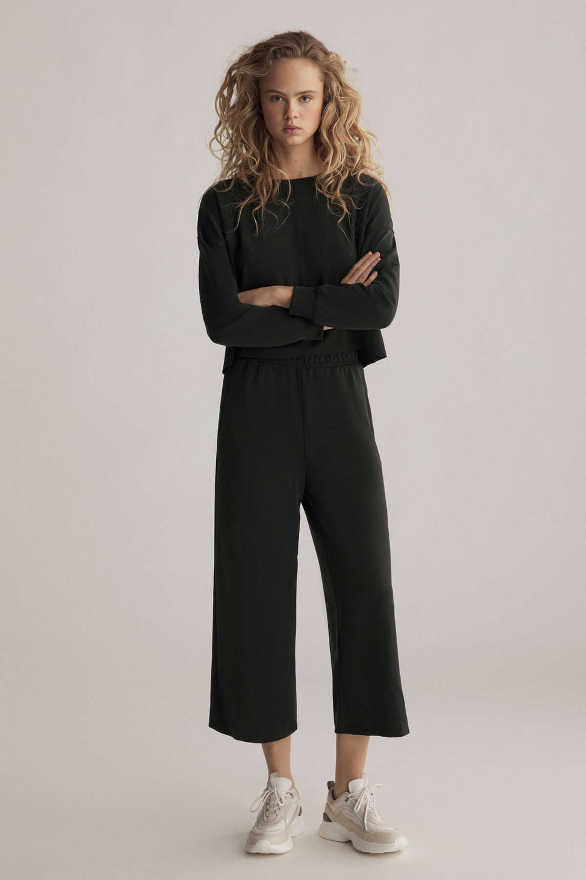 Oysho Kadın Modal Culotte Pantolon Siyah 31237666 2