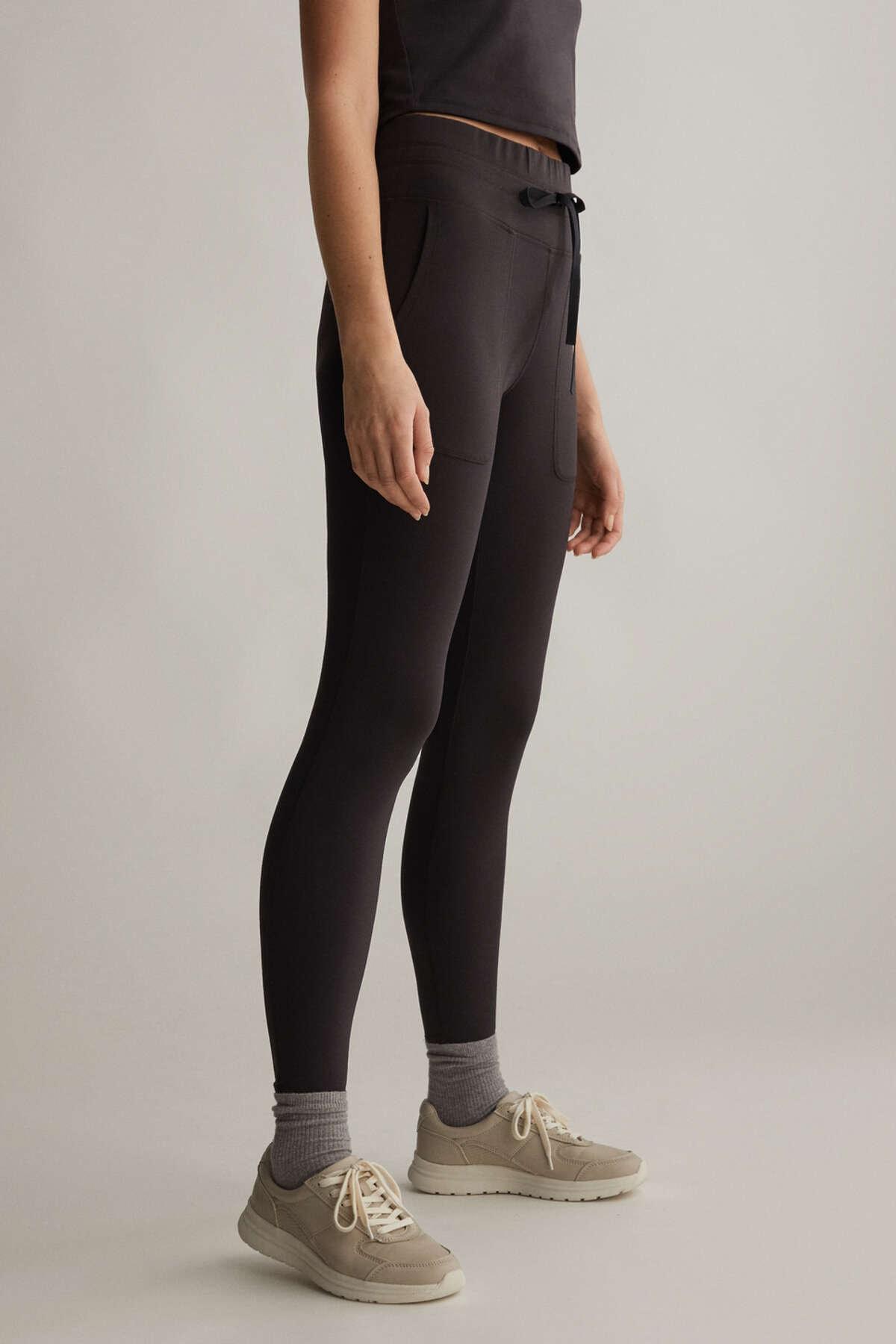 Oysho Kadın Bağcıklı Comfort Tayt Siyah 31802222