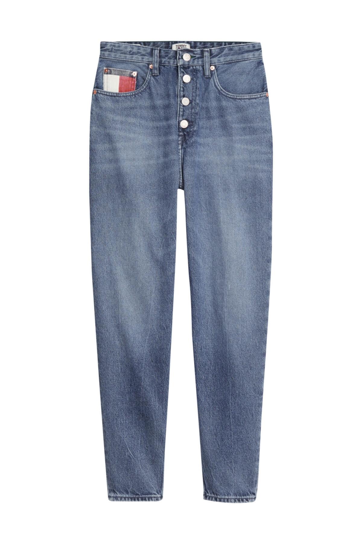 Tommy Hilfiger Kadın Denim Jeans Mom Jean Hr Tprd Btn Fly Svmbr DW0DW08650 1