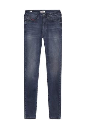 Tommy Hilfiger Kadın Denim Jeans Sylvıa Hr Super Skny Dynrdb DW0DW08374
