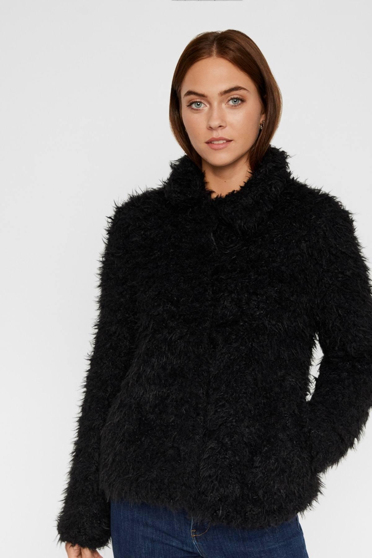 Vero Moda Kadın Siyah Suni Kürk 10217012 VMJAYLAMEG 1