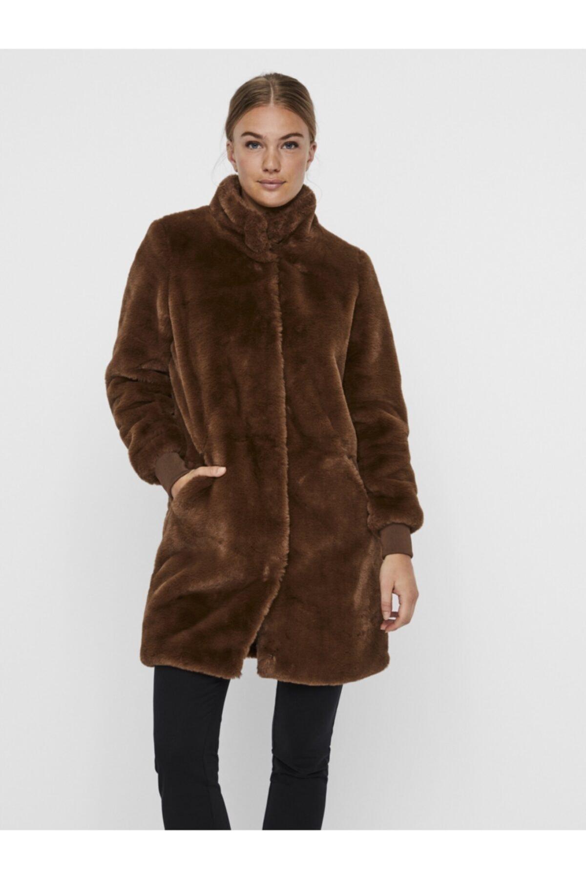 Vero Moda Kadın Kahverengi Kaban 2