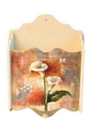 Nobel Çiçek Desenli Açık Posta Kutusu