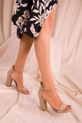 SOHO Ten Süet Kadın Klasik Topuklu Ayakkabı 14532