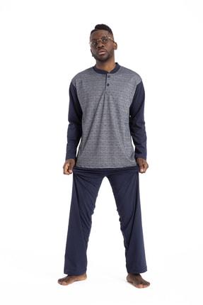 TAMPAP Erkek Lacivert  Pijama Takımı 1001