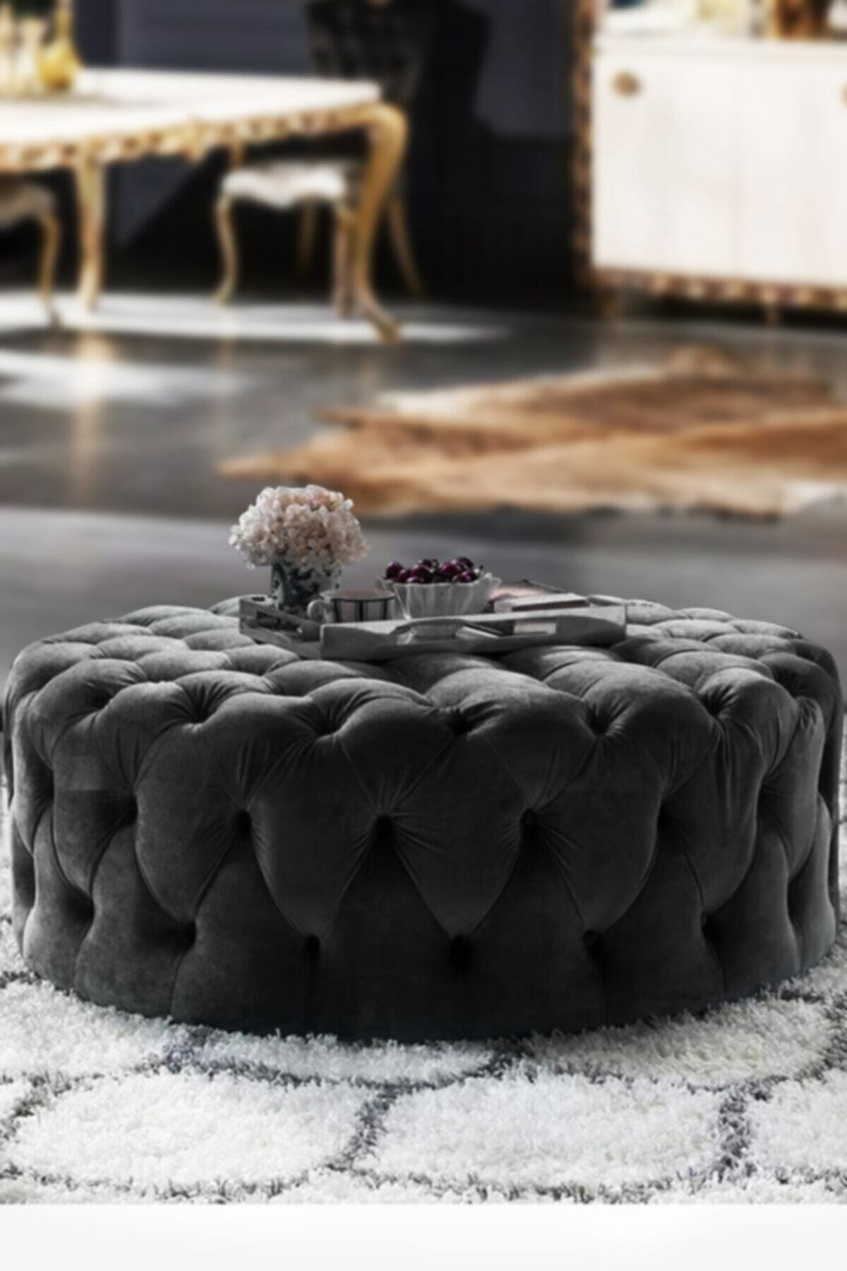 Kangurudan Romossi Luxury Siyah Puf 1