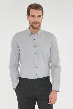 ALTINYILDIZ CLASSICS Erkek Açık Gri Tailored Slim Fit Gömlek