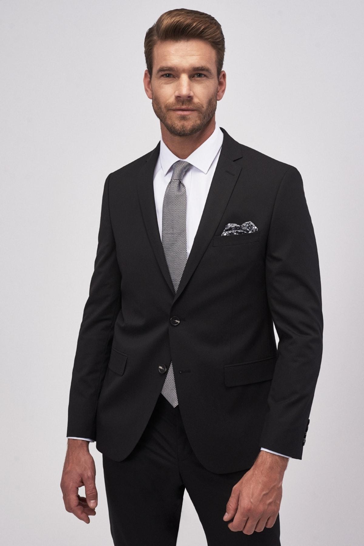 ALTINYILDIZ CLASSICS Erkek Siyah Slim Fit Takım Elbise 1