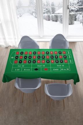 Hediyeler Kapında 150x210 Roulette Casino Green Masa Örtüsü