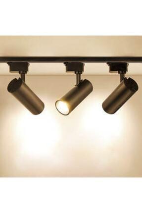 Led Pasajı Siyah Kasa Ve Günışığı 3 Adet 360 Derece Dönen Led Ray Spot Lamba 1 Metre Raylı Armatür