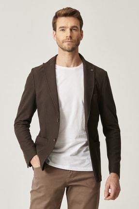 ALTINYILDIZ CLASSICS Erkek Kahverengi Slim Fit Ceket