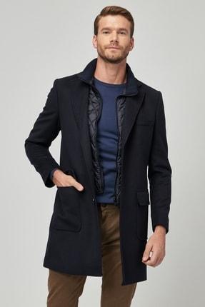 ALTINYILDIZ CLASSICS Erkek Lacivert Standart Fit Desenli Palto