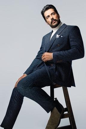 ALTINYILDIZ CLASSICS Erkek Lacivert Slim Fit Desenli Takım Elbise