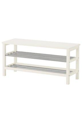 IKEA Tjusig Bank Ve Ayakkabılık Beyaz, 108x50 Cm