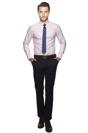 ALTINYILDIZ CLASSICS Erkek Pembe Tailored Slim Fit Non-Iron Gömlek