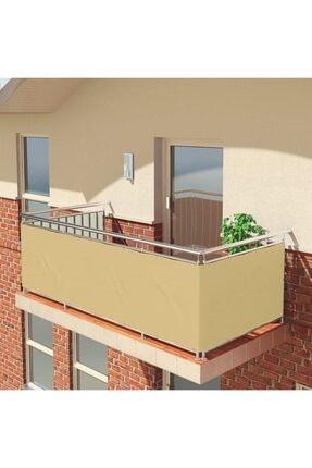 ALTINPAMUK Balkon Demiri Perdesi Korkuluk Perdesi Her Ölçüde Boy X En Metal Halkalı Krem