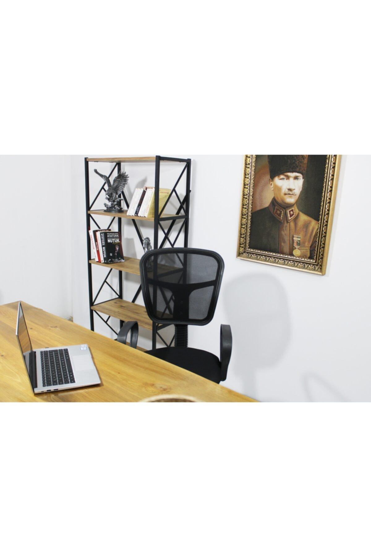 HEREVİM Siyah Fileli Bilgisayar Ofis Çalışma Sandalyesi Koltuğu 2