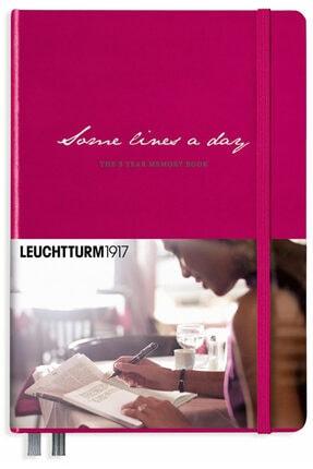 Leuchtturm1917 ''some Lines A Day'' - 5 Yıllık Anı/hatıra Defteri, Vişne