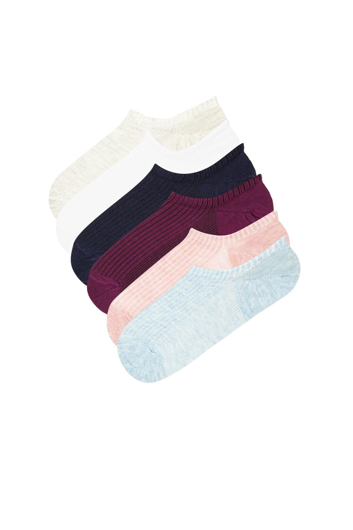 Penti Kadın Çok Renkli Grapes 6Li Babet Çorap