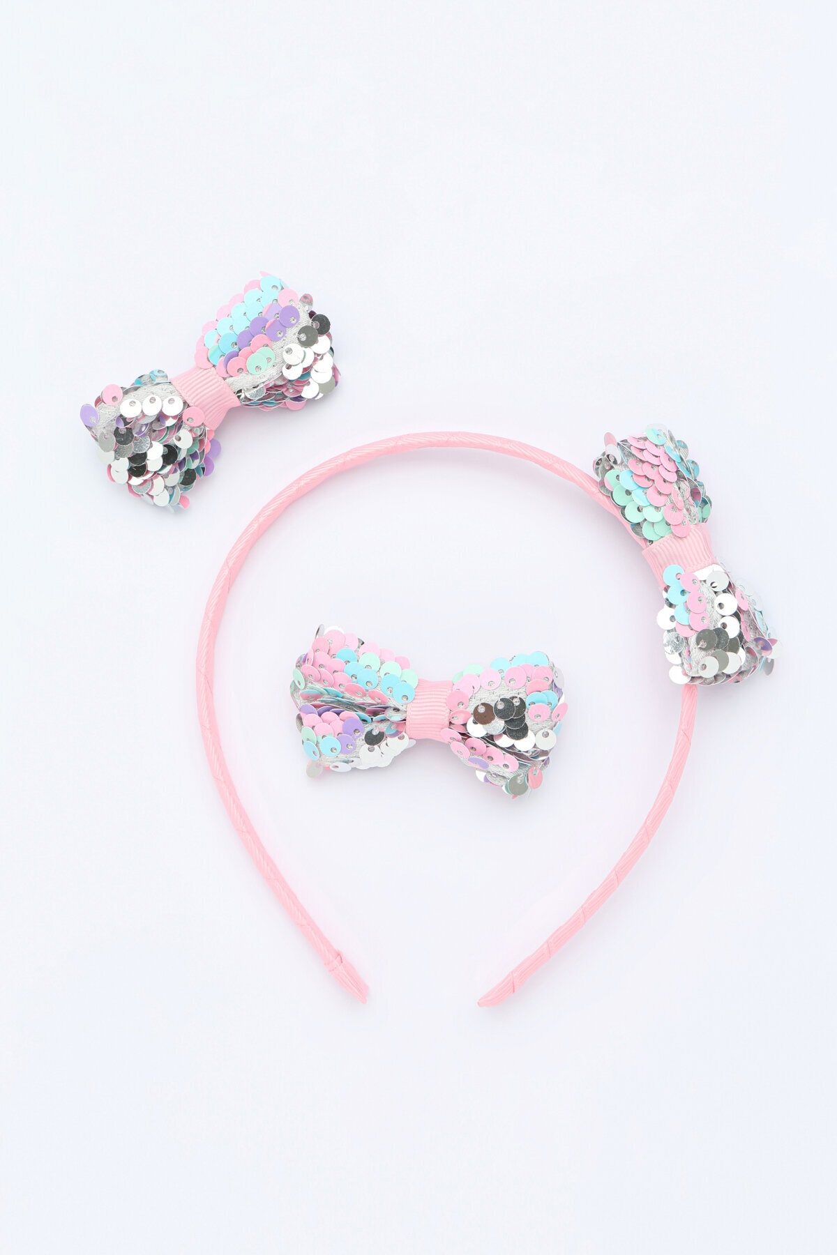 Penti Kız Çocuk Çok Renkli Payette Bow Taç Set