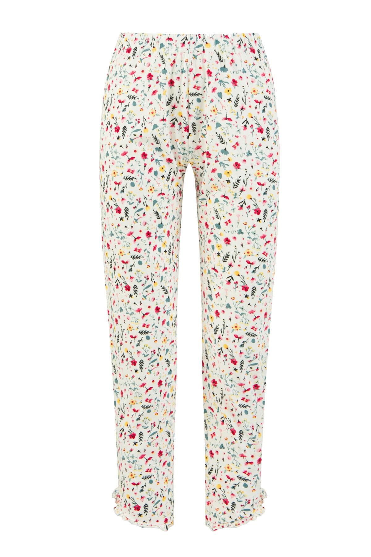 Penti Kadın Beyaz Everyday Pantalon