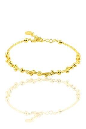 Söğütlü Silver Gümüş Altın Yaldızlı Dorica Toplu Bilezik