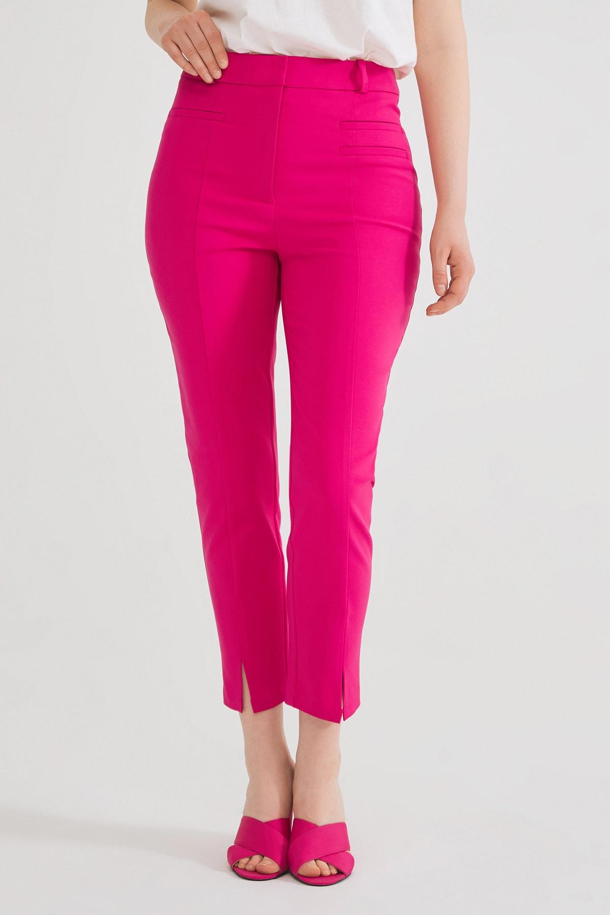 Love My Body Kadın Fusya Fleto Cepli Pantolon 2
