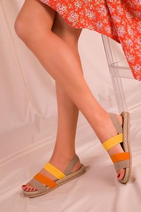 SOHO Vizon-orange-sari Kadın Sandalet 15098