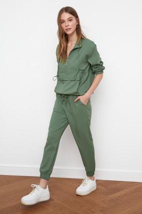 TRENDYOLMİLLA Mint Jogger Beli Lasitkli Pantolon TWOSS21PL0234