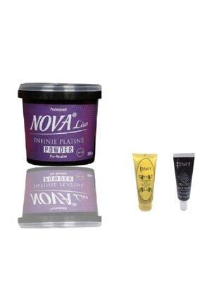Nova Mavi Saç Açıcı Pro Keratin 500gr Ostwint Siyah Ve Altın Maske 20ml Hediye