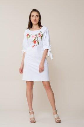 GIZIA CASUAL Kadın Çiçek Nakış İşlemeli Mini Elbise M18YEW0721XUQ