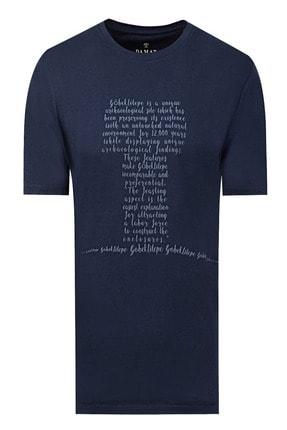 D'S Damat Damat Lacivert Baskılı T-shirt