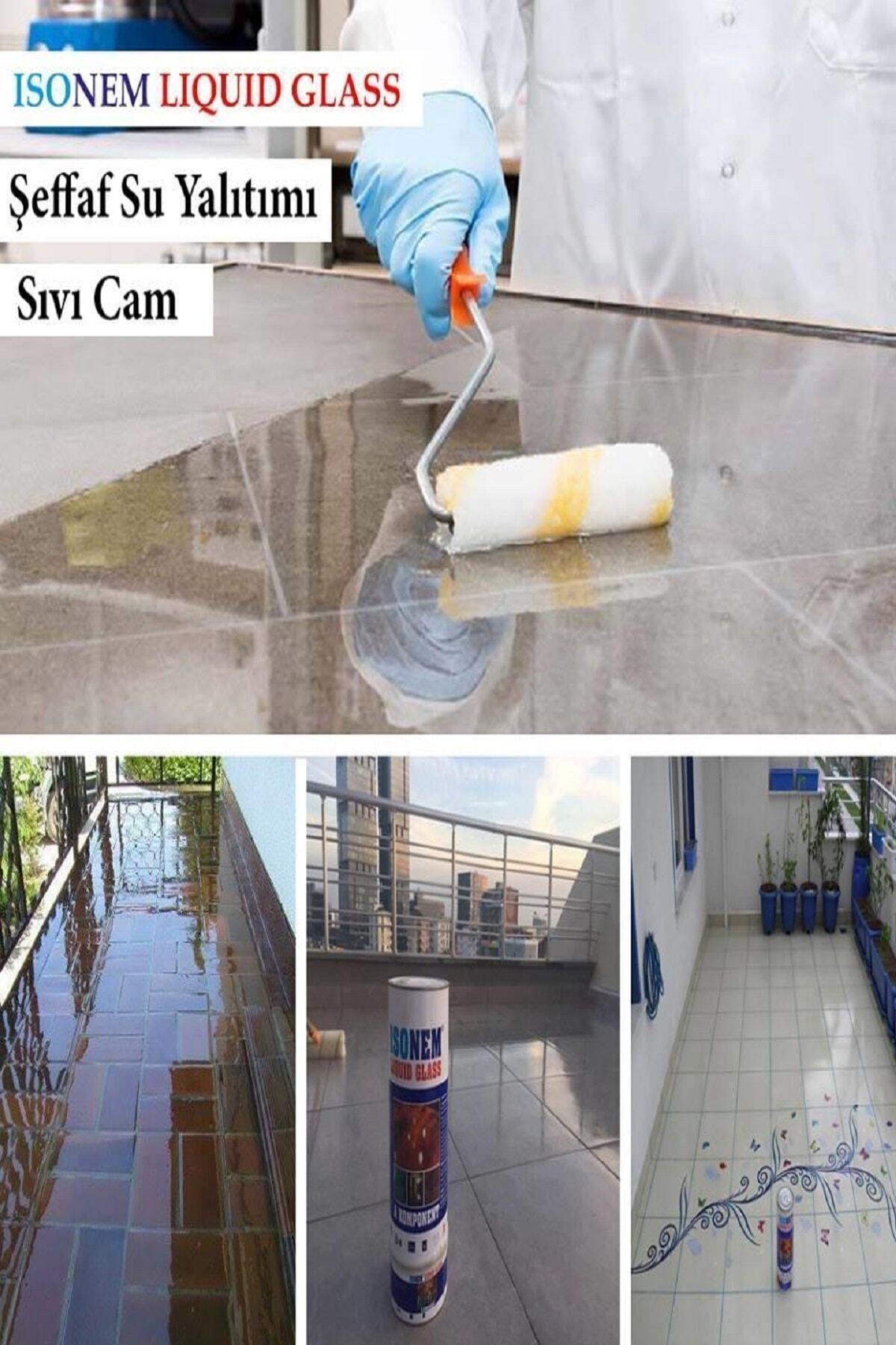 Isonem Liquid Glass (Sıvı Cam) 2 Kg Şeffaf Zemin Su Yalıtımı 2
