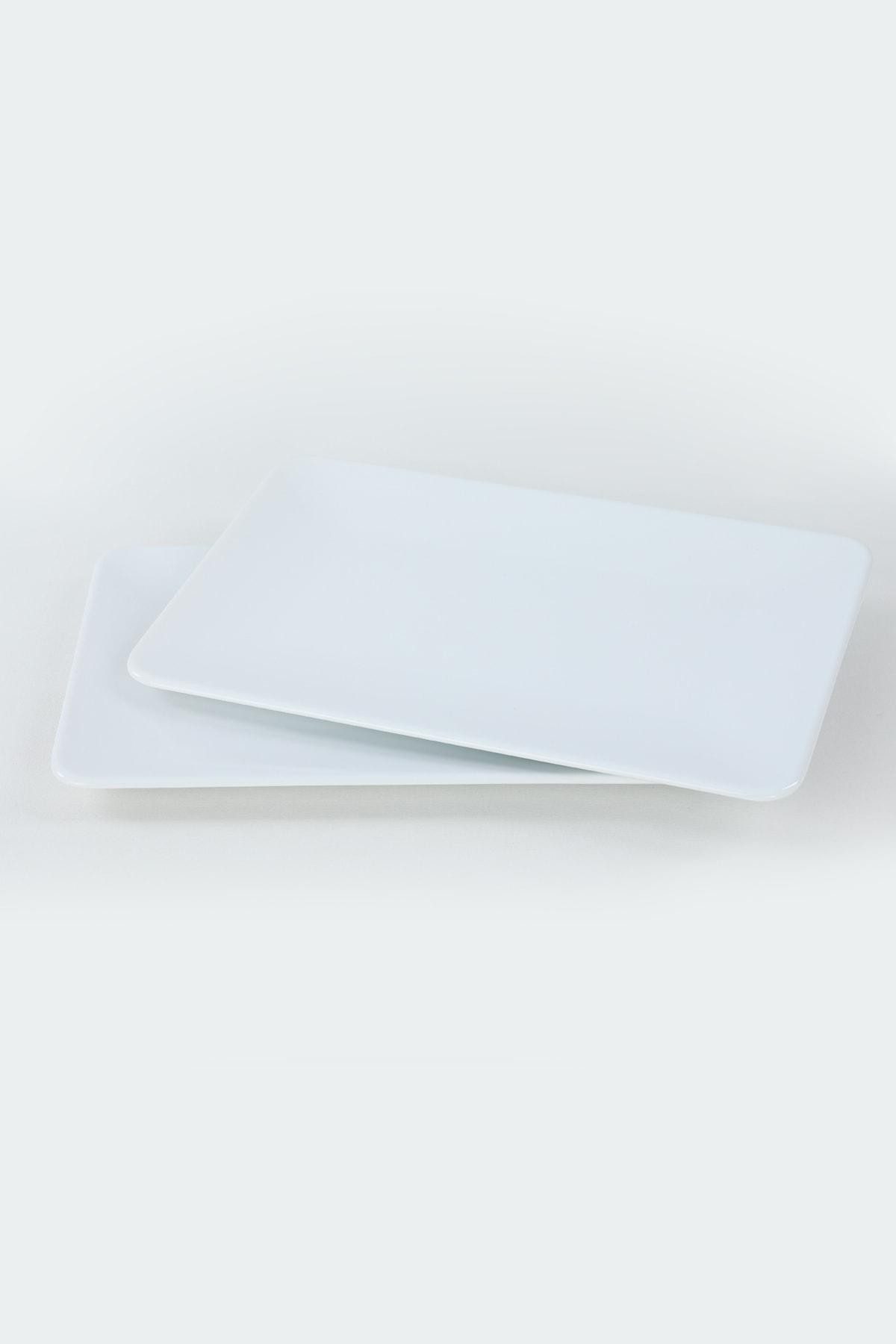 Keramika Beyaz Kayık Tabak 33X21 Cm 2 Adet 2