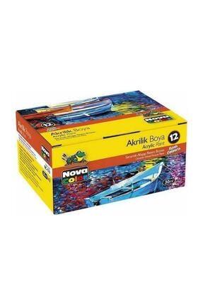 Nova Color Akrilik Boya 12 Renk X 30 ml Şişe