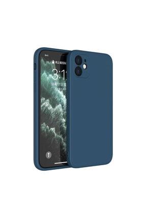 """Fibaks Iphone 12 6.1"""" Uyumlu Kılıf 3d Kamera Korumalı Kadife Kılıf"""
