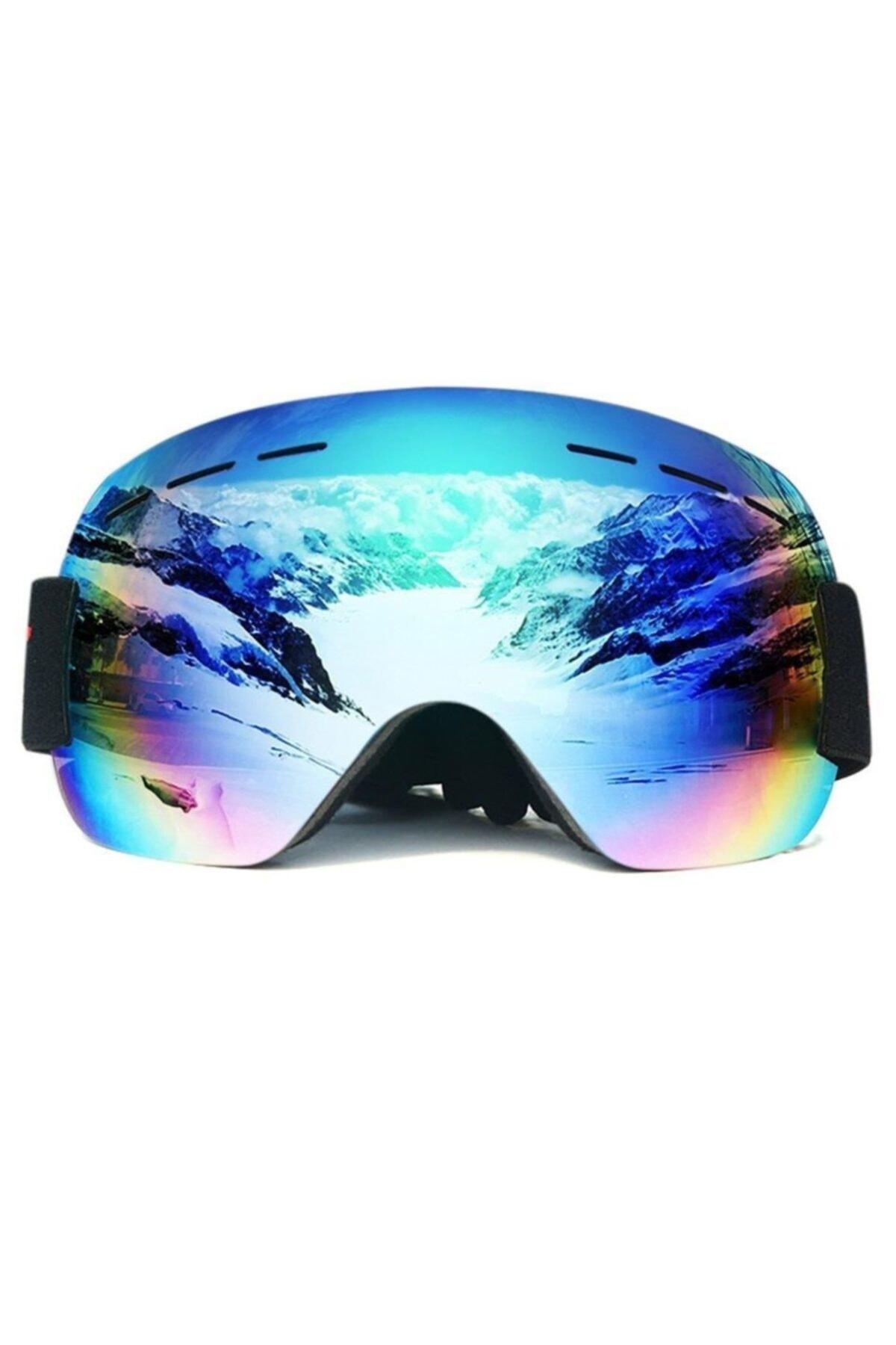 Schulzz Anti Sis Özellikli Çift Lens Uv Snowboard Kayak Gözlüğü 1