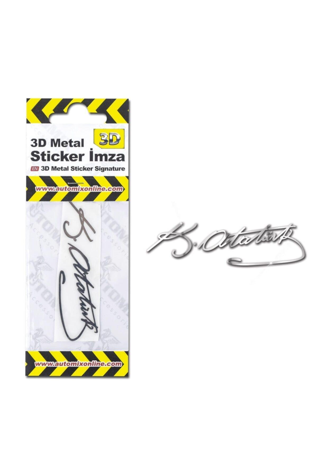 Automix 3d Metal Sticker Imza 2