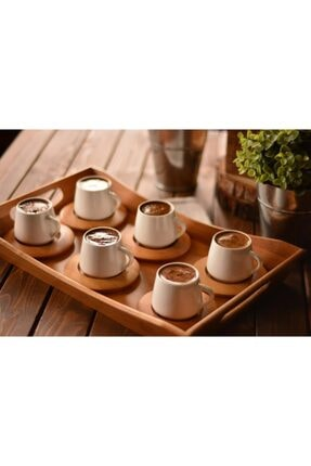 Bambum Lilach 6 Kişilik Kahve Fincan Takımı B0244