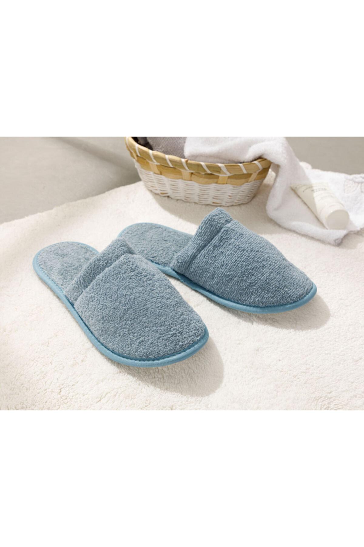 English Home Simple Pamuklu Erkek Banyo Terliği 40-44 Indigo 1