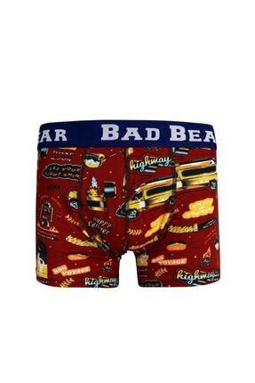 Bad Bear Erkek Bordo Bon Voyage Kısa Boxer