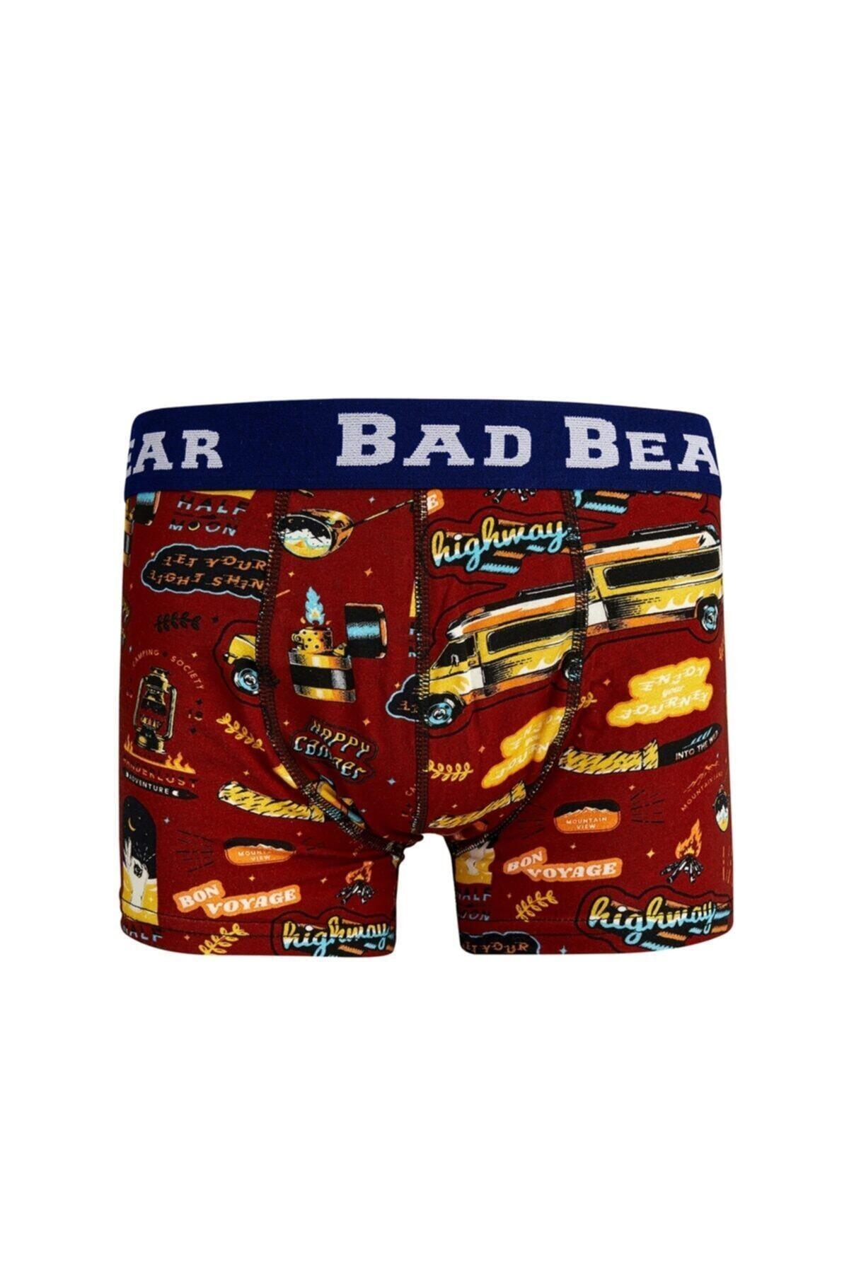 Bad Bear Erkek Bordo Bon Voyage Kısa Boxer 1