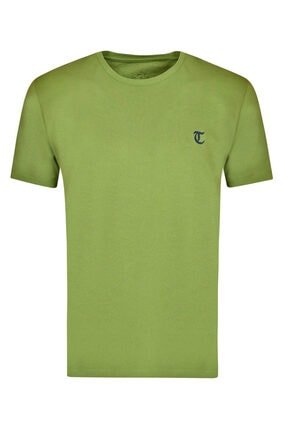 D'S Damat Erkek Yeşil Twn Slim Fit Düz T-shirt